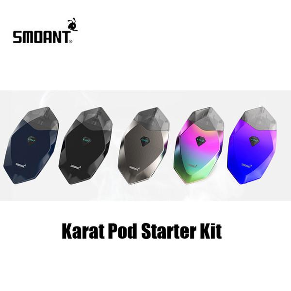 Authentic Smoant Karat Pod Starter Kit 370mAh Battery All-In-One System Vape Kits For Original 2ml Quartz Coil Cartridge 100% Genuine