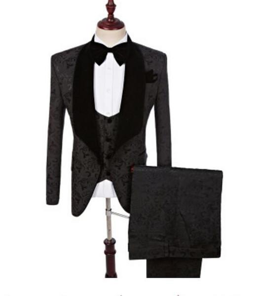 2019 tuxedos Paisley rouge laine costumes de mariage de hareng pour les hommes de style britannique fait sur commande mens costume slim fit taille S-5XL