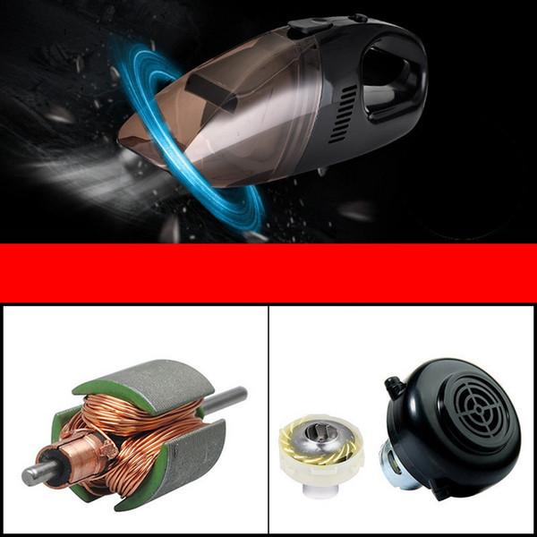 Mini Araba Süpürge Mini Taşınabilir Süper Emme Islak Ve Kuru Çift Kullanımlı Oto El Elektrikli Süpürge ile Güç Kablosu