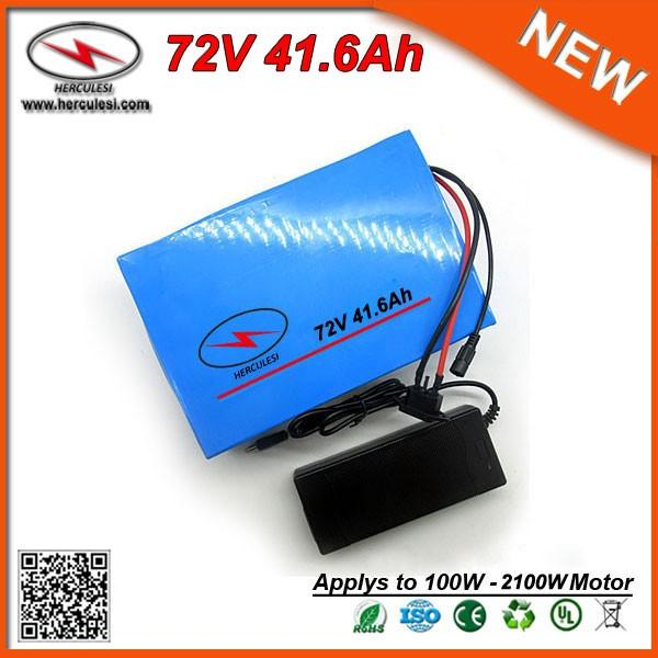 Хорошее качество 72V 40Ah литий-ионный аккумулятор для 2000 Вт электрический велосипед скутер с 5A зарядное устройство Бесплатная доставка