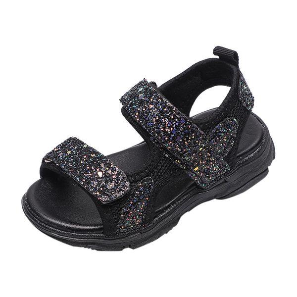 Çocuk Bebek Kız Erkek Kız Mesh Bling Pullarda Spor Sneaker Ayakkabı moda Sığ Ağız Prenses Kanca Döngü Mesh Ayakkabı 13 Mayıs