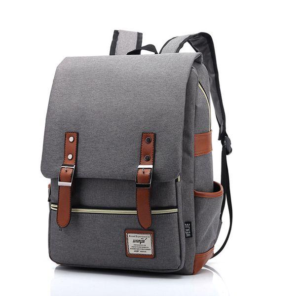 Винтаж холст Мужской рюкзак женщины ноутбук рюкзак мода подросток школьная сумка женский досуг мужской дорожная сумка дамы
