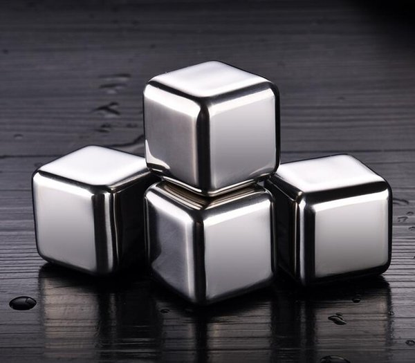 Acciaio Inox Ice Cubes pietre del whisky metallo riutilizzabile Ice Cubes Chilling Pietre Rocce Per Vino Birra Beverage Whisky Ice Wine Pietra
