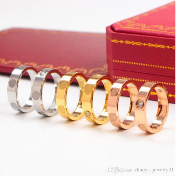 2018 Горячие взрывы кольцо с бриллиантом классические мужские и женские кольца мода простое кольцо ювелирные изделия узкая версия
