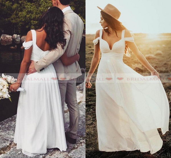 Off Shoulder Pleats Chiffon Long Prom Dresses 2019 Cheap Black Girls Formal Party Gowns Zipper Back Capped Sleeves Bridesmaid Evening Dress