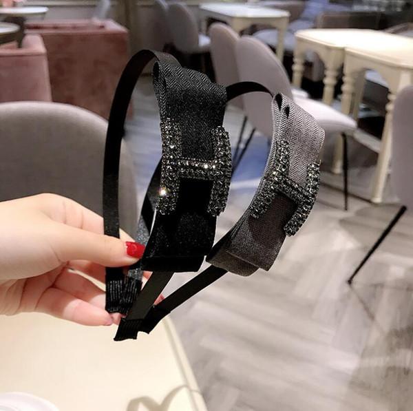 Corea Dongdaemun nueva diadema checa importada diamante arco moda diadema hebilla cabeza de gama alta accesorios para el cabello