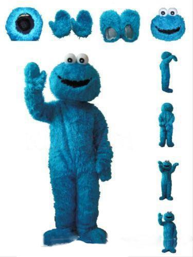Оптовая продажа горячей продажи Улица Сезам Синий Cookie Monster Костюм талисмана Необычные платья для взрослых размер Хэллоуин бесплатная доставка