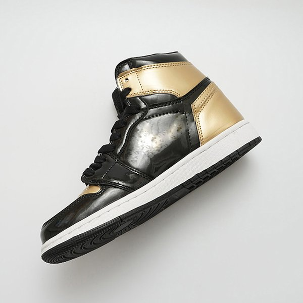 Gold Toe 1 OG Basketball-Schuhe Herren Chicago 6 Ringe Turnschuhe Metallic-Rot-Trainer DAMEN MID New Love UNC Sport Designer Schuhgröße EU5.5-13