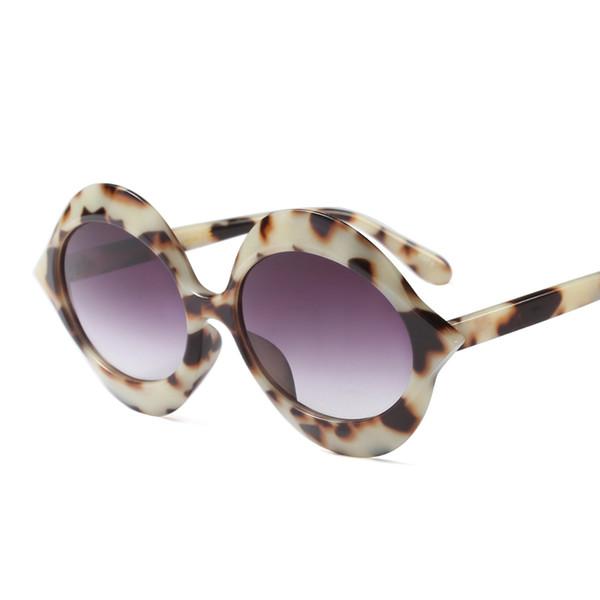 Venta al por mayor 2018 ronda mujeres gafas de sol forma de ojo de gato gafas Vintage moda grandes anteojos hombres gafas de sol marca sombras oculos