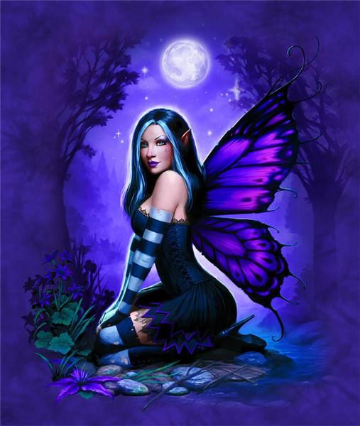 Night Fairy Jesse Barnes, décoration de la maison imprimée HD sur toile moderne (sans cadre / encadrée)