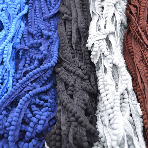 trim Lace Fabric 5 Yard/lot 11mm Tassel Ball Fringe Ribbon DIY Material Apparel Sewing Accessories pom Trim Pom Decoration 7Z