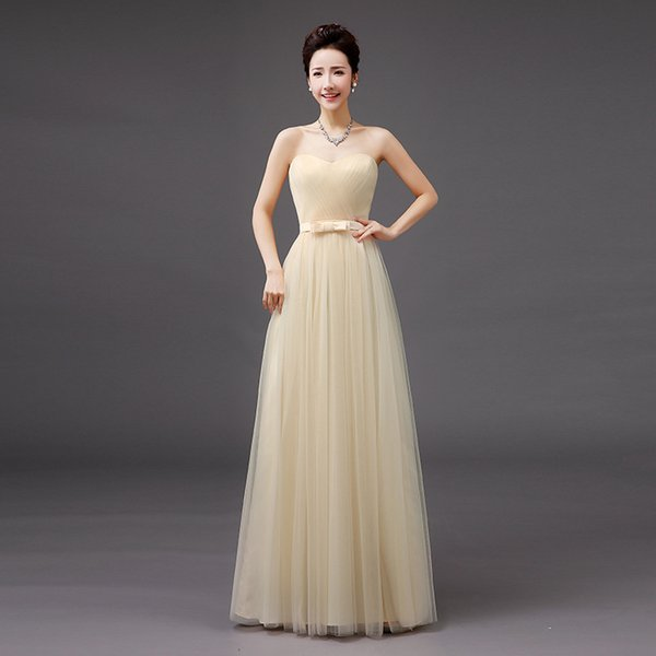 Compre Longo Chiffon Blush Vestidos Dama De Honra 2019 A Linha Vestido De Festa De Casamen Formal Vestidos De Festa De Formatura De Yemu05021 4218