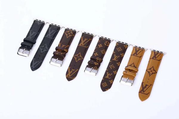 Designer de Banda de Relógio de Apple Bandas de Luxo de Substituição 38mm 42mm 44mm Pulseiras de Relógio Pulseira de Moda pulseiras de couro Pulseira de Esportes Pulseira iwatch