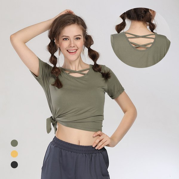 Fenda Seca rápida Fit Fit Yoga Tops Mulheres Esporte Camiseta Ginásio Jerseys Camisa de Fitness Yoga Correndo Camisetas Femininas Esportes Top Roupas