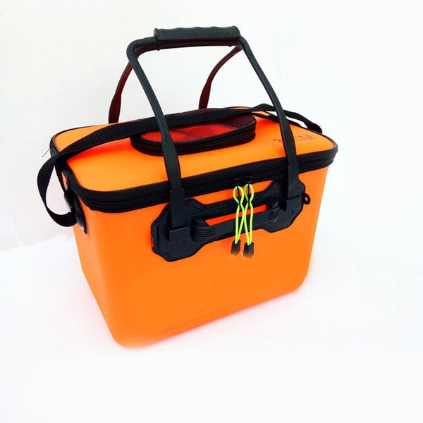 EVA Folding Fishing Box Wasserdichte Eimer Tasche Fisch Wasser Reel Pouch Bag Mit Griff Angelrute sac etanche peche # 205172