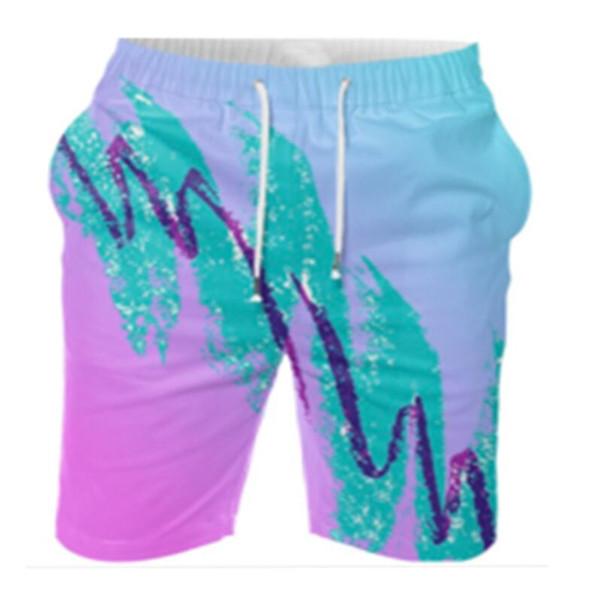Pantalones cortos deportivos de impresión en 3-D para hombres, pantalones de playa, ocio 5 minutos, pantalones de 7 minutos, gran tamaño para personalizar K01