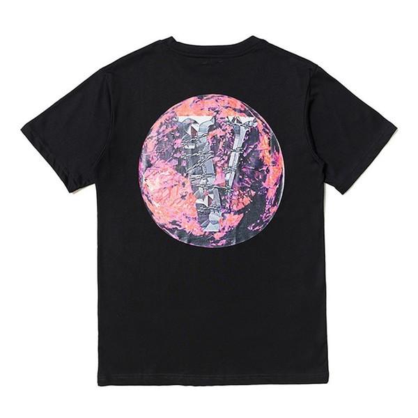 New Vlone POP UP Earth Printed T-shirt Hip Hop Fashion Men Women Tee Simple Street Skateboard Breathable Casual Short Sleeves Tee HFYMTX523