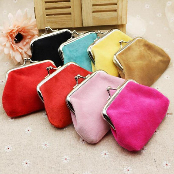 Womens Corduroy Small Wallet Holder Coin Purse Clutch Handbag Bag Mini Pouch Corduroy Hasp Solid Hot Free Shipping