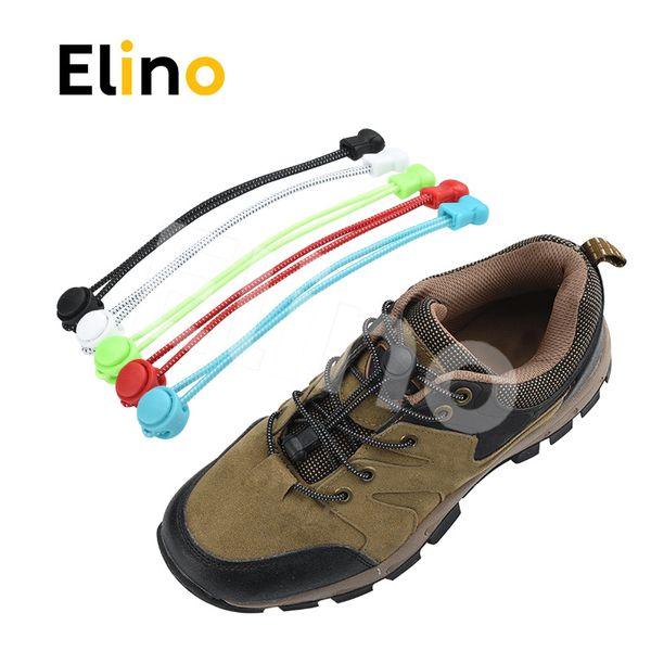 Elino 1 pair Non-tie Lazy Shoelace Unisex Men Women Colorful Elastic Round Shoe Lace Lock for Adult Children Athletes Trainning