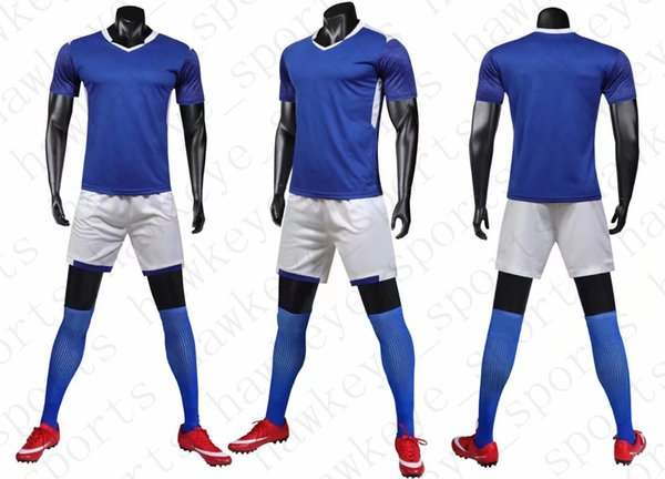 New Men's Sports Football uniform hot selling Customized Putuan Training Suit Breathable 2019 Short Shirt 2456154901