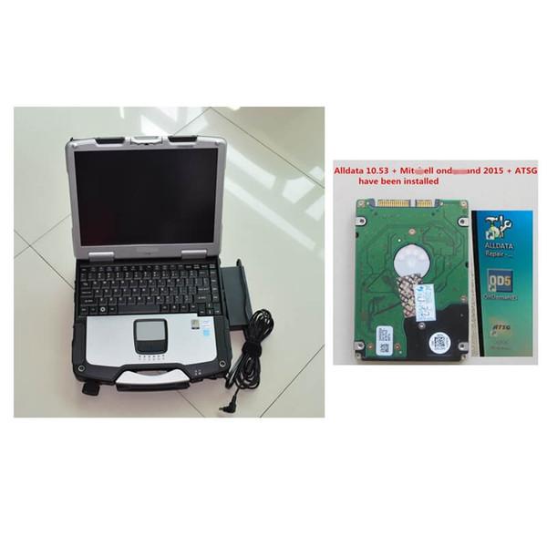Software di riparazione Alldata installato V10.53 + Mit 2015 + ATSG 2012 in 1 TB HDD con CF-30 4GB Laptop DHL Fast Shipping