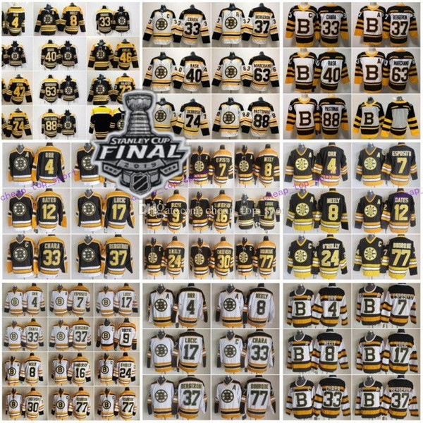 2019 Taça Stanley, Boston Bruins, 33, Zdeno Chara, 37 Patrice Bergeron, Tuukka Rask, David Krejci, Torey, Krug, Bobby Orr, Cam, Neely, 77, Ray, Bourque