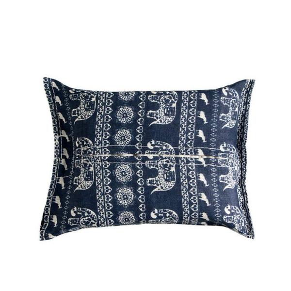 New Hanging Tissue Bag Classic Geometry Pattern Tovagliolo di lino Tovagliolo Asciugamani di carta Creative Car Home Wall Hanging Holder