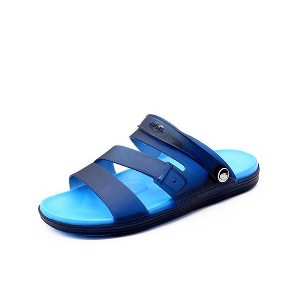 2019 New Jelly Shoes Uomini Sandali Da Spiaggia Pantofole Hollow Uomini Infradito Sandalias Scarpe Estive All'aperto Sandali Chaussure Homme