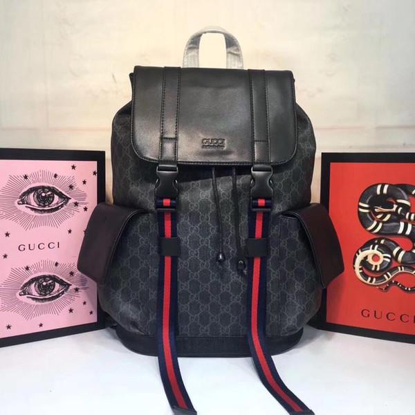 2019a1 de igner bag luxury de igner bag backpack bag leather fa hion logo large capacity imple trend 1 1 imitation m450958, Black;white