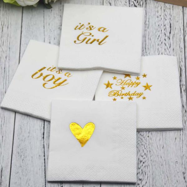 Baby Shower Decor Kids Favors Handtücher Papierservietten Einwegprodukte Tissues Supplies Hochzeit Restaurant Geburtstagsfeier