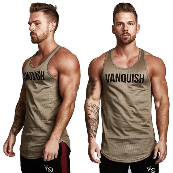 Erkek Vücut Geliştirme Tank top Spor Salonları Spor kolsuz gömlek 2018 Yeni Erkek Pamuk giyim Moda Atlet yelek Fanila