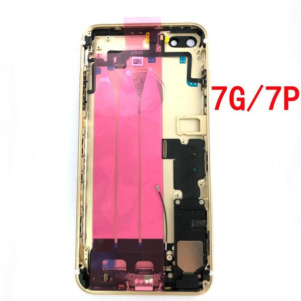 Hohe qualität für iphone 7 plus iphone 7 plus zurück mittleren rahmen chassis volle gehäuse montage batterieabdeckung tür hinten