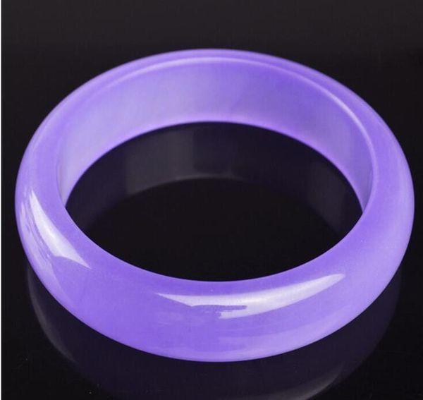 56-60mm Natural Violet Jade Bracelet Envío Gratis