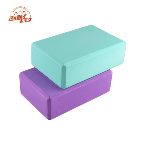 High-density EVA Yoga Blocks Foam Home Exercise Yoga Bricks Fitness 7.6*15*22.5 Block Pink Purple Blue Green Orange 0.12kg
