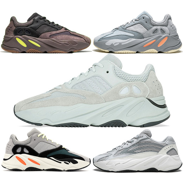 700 V2 Koşu Ayakkabıları Erkekler Kadınlar Atalet Dalga Koşucu Leylak Leylak Statik Tuz Geode Üçlü Siyah Beyaz Kanye West Spor Sneaker Ücretsiz Kargo