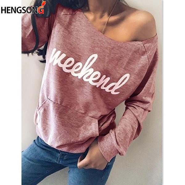 Letter Print Women's Hoodie Fashionable Long Sleeve Casual Sweatshirt Front Pocket Loose Tops Kawaii Sweatshirt Clothing