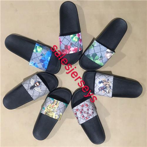 Yeni Erkek Kadın Sandalet Tasarımcı Ayakkabı Slayt Yaz Moda Geniş Düz Kaygan Sandalet Terlik Flip Flop size37-45