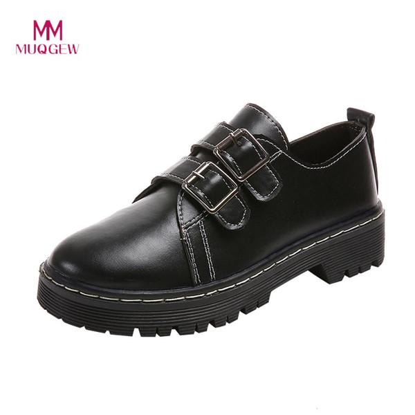 Señoras estilo de conducción Botas Wellington-negro con hebilla-tamaños 3-7 UK