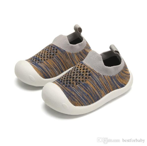 Baby Boy Girl Sneakers Anti Skid Lightweight Soft Toddler First Walkers for Walking Running Crochet Shoes