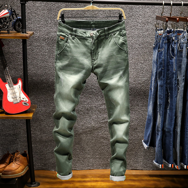 Jeans men New Fashion Boutique Stretch Casual Skinny biker Jeans for men Straight Mens brand Denim Jean Male Trouser Pants homme