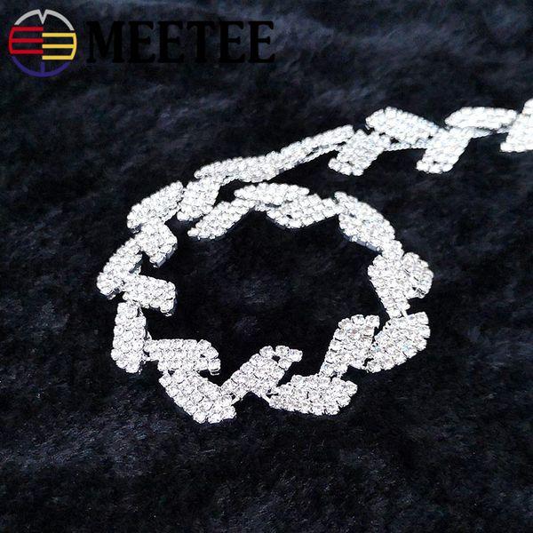 2019 NEW Leaf Rhinestone Lace Trim Ribbon Diamond Crystal Chain DIY Wedding  Dress Decoration For Sewing Clothing Accessories AP092 From Qingtongzhi12,