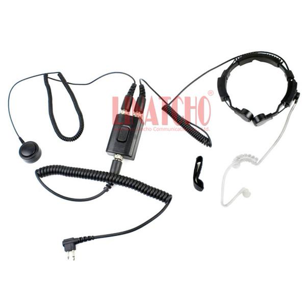 Motorola Two way radio GP68 GP88 GP300 GP308 walkie talkie PTT tactical throat mic earphone neck strap