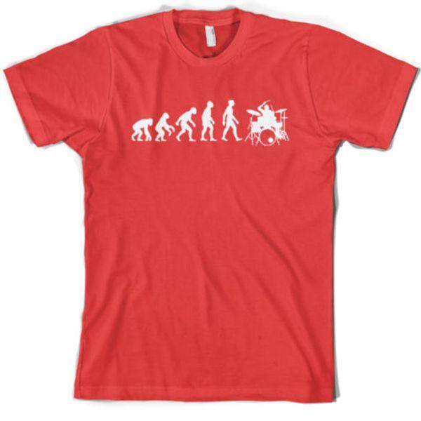 Entwicklung des T-Shirt-Geschenks der Mann-Schlagzeuger-Männer / Trommeln - 10 Farben S-XXLFunny freies Verschiffen Unisex-beiläufige Spitze