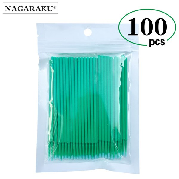 100pcs/lot Micro Durable Disposable Eyelash Extension Individual Applicators Mascara Brush For Women Eyelash Glue Cleaning Tool