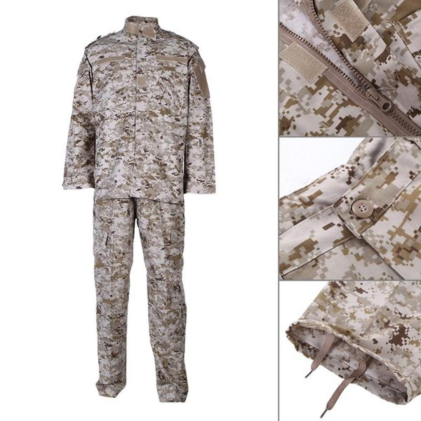 army tactical uniform shirt + pants camo camouflage combat uniform us army men's clothing suit hunting thumbnail