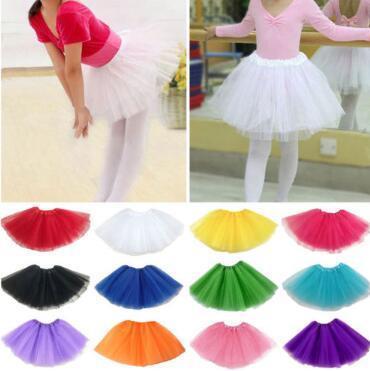 16 colori per bambini danza tulle tutu gonne discoteca balletto dress fantasia gonne costume principessa maglia dress bambini tutu gonne cca11259 30 pz