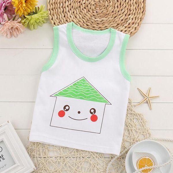 100% Cotton Summer Baby Girls Boys Vest Tops Soft Sleeveless Kids T-shirts Undershirt Camisoles Children Underwear