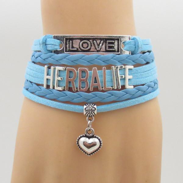 Fashion Herbalife Bracelets Infinity Love Herbalife Bracelet Hanging Heart Charm Hot Sale Herbalife Bangle