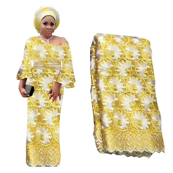 Viola 2020 tessuto di pizzo francese di lusso di alta qualità africano nigeriano fiore ricamato Tulle pietre di tessuto di pizzo per matrimonio