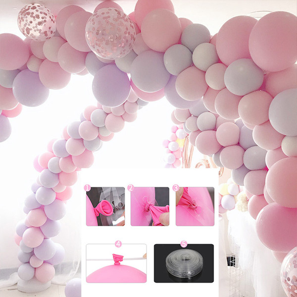 top popular 5m Balloon Chain Tape Arch Connect Strip for Wedding Birthday Party Decoration New Balloon accessory strap Wedding 2020